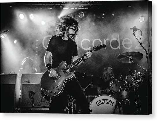Uk Foo Fighters Live @ Concorde 2 Canvas Print