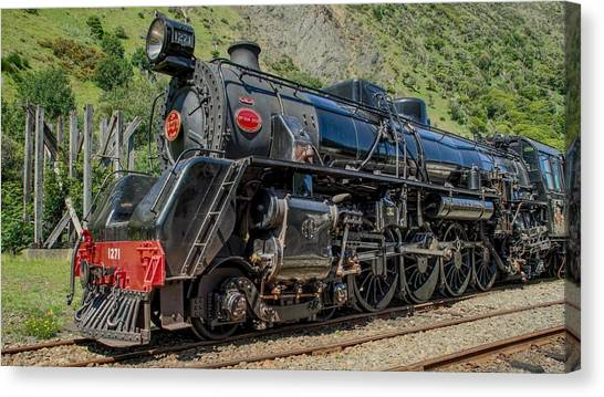 Steam Trains Canvas Print - Vehicles by Maye Loeser