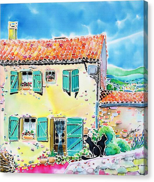 View Of Luberon Canvas Print