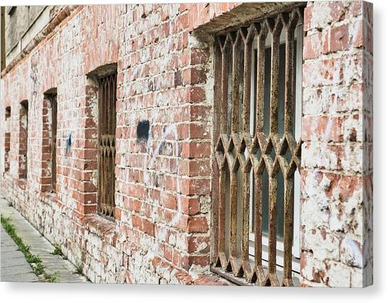 Dungeons Canvas Print - Window Bars by Tom Gowanlock