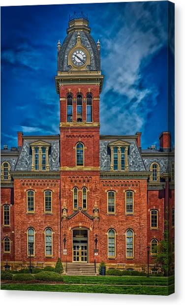 West Virginia University Wvu Canvas Print - Woodburn Hall - West Virginia University by Mountain Dreams