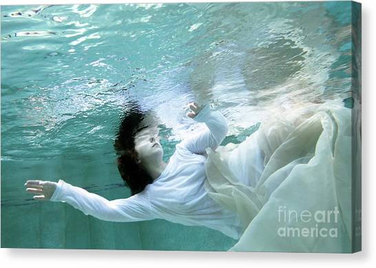 Water Canvas Print - You Are The Ocean And I Am Drowning by Glennis Siverson