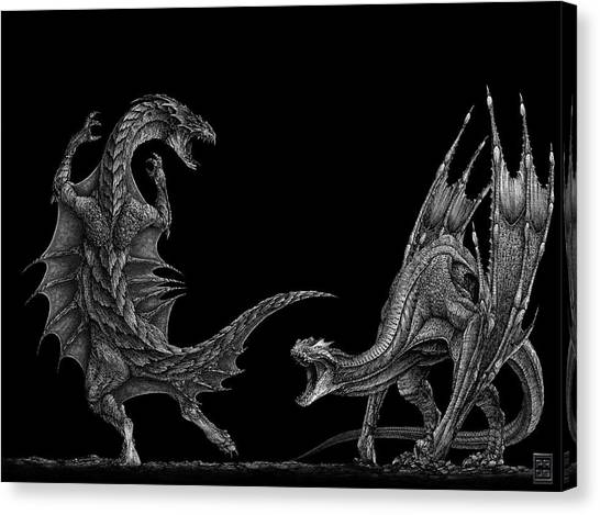 Biology Canvas Print - Dragon by Super Lovely