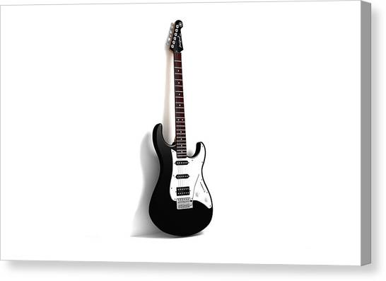 Bass Guitars Canvas Print - Guitar by Mariel Mcmeeking