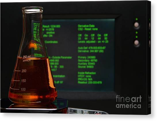 Computer Science Canvas Print - Laboratory Experiment In Science Research Lab by Olivier Le Queinec