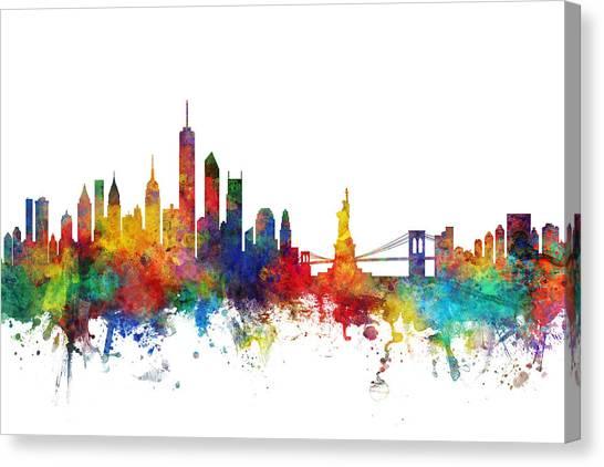 New York City Skyline Canvas Print - New York Skyline by Michael Tompsett