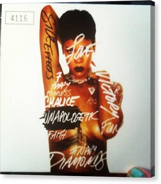 Rihanna Canvas Print - #4116 @badgalriri #rihanna #rihrih by Sophie Hayes