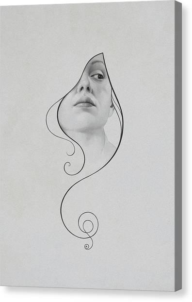 Art Nouveau Canvas Print - 413 by Diego Fernandez
