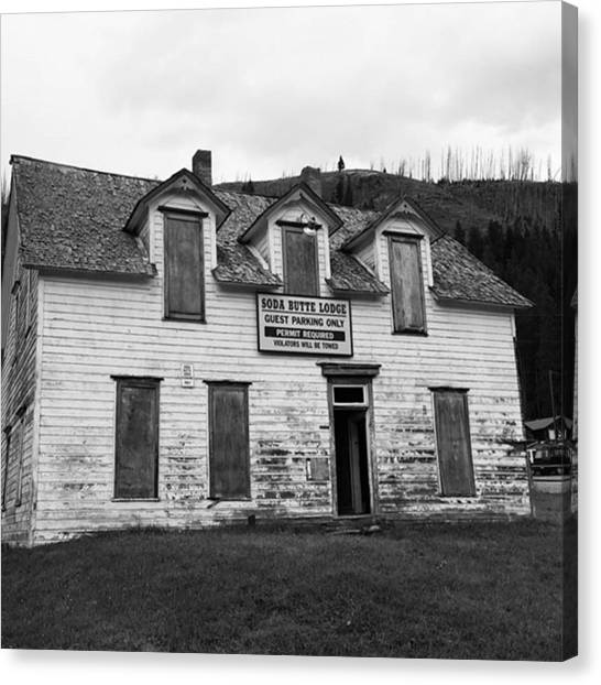 Rocky Mountains Canvas Print - Soda Butte Lodge by Jonathan Stoops