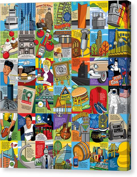 Ketchup Canvas Print - A History Of Pittsburgh Firsts by Ron Magnes