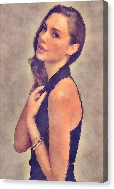 Ben Affleck Canvas Print - Gal Gadot Art by Elizabeth Simon