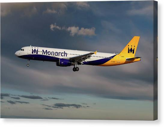 Monarch Canvas Print - Monarch Airbus A321-231 by Smart Aviation