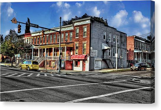 43rd Street And York Road Canvas Print
