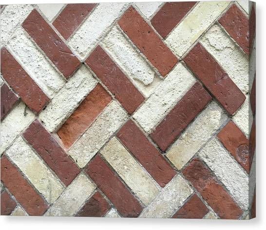 Chequered Canvas Print - Brick Wall by Tom Gowanlock