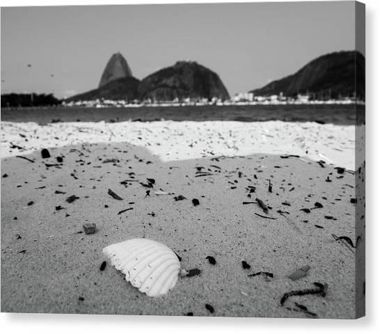 White Sand Canvas Print - Rio De Janeiro by Cesar Vieira