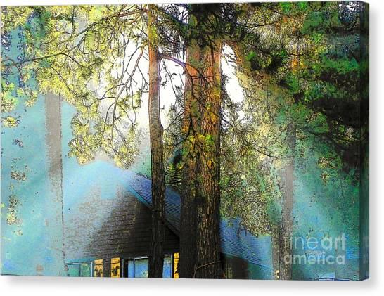 Idyllwild - Houses On The Hill Canvas Print