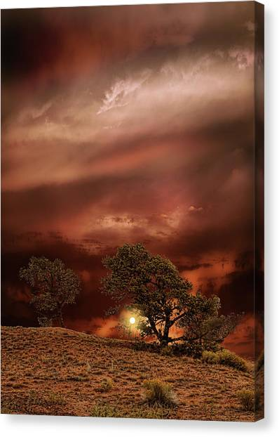 Prairie Sunsets Canvas Print - 4578 by Peter Holme III