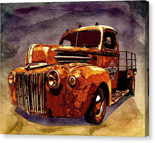 46 Ford Flatbed Redux From The Laboratories At Vivachas Canvas Print