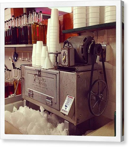 Snowball Canvas Print - Snowball Machine by Jeffrey Domke
