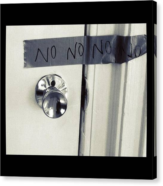 Portal Canvas Print - No Entry by Alicia Boal