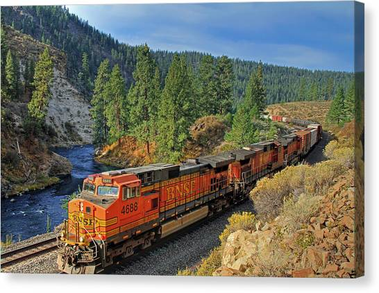 Trains Canvas Print - 4688 by Donna Kennedy