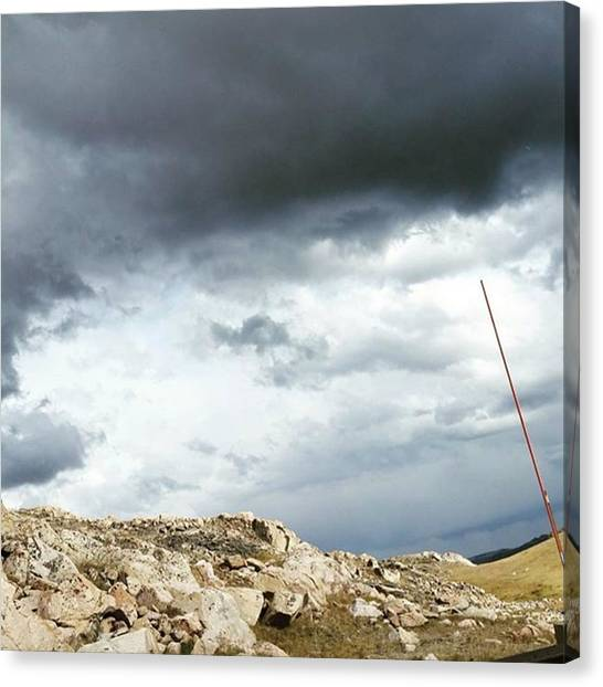 Yellowstone National Park Canvas Print - Rocky Mountain Storm by Jonathan Stoops