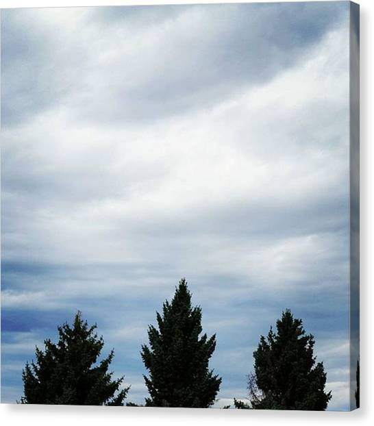 Big Sky Canvas Print - Mountain View Motel by Ashley Loza