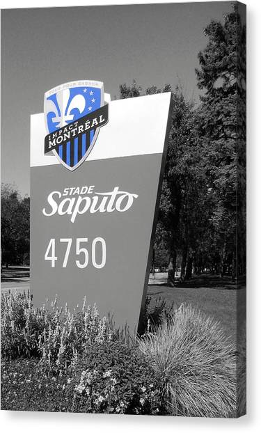 Montreal Impact Canvas Print - 4750 Sherbrooke Street E by Juergen Weiss