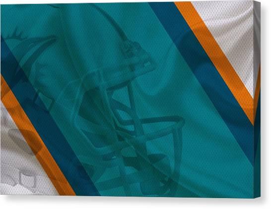 Miami Dolphins Canvas Print - Miami Dolphins by Joe Hamilton