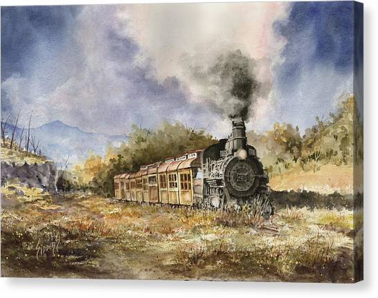 Trains Canvas Print - 481 From Durango by Sam Sidders