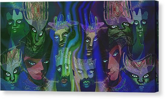 484  Feline  People  B Canvas Print