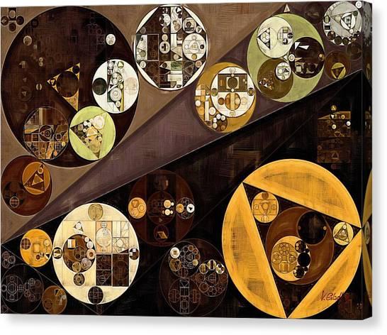 Clay Canvas Print - Abstract Painting - Zinnwaldite Brown by Vitaliy Gladkiy