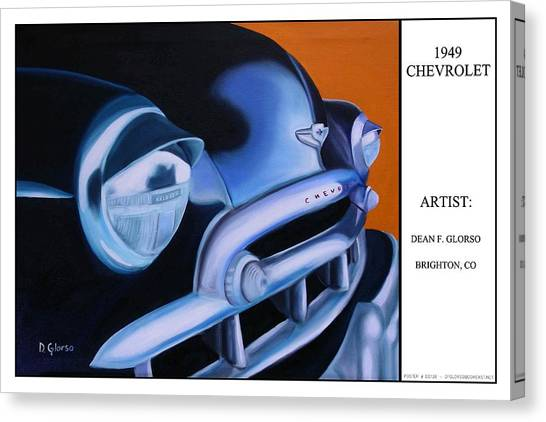 49 Chevy Poster Canvas Print