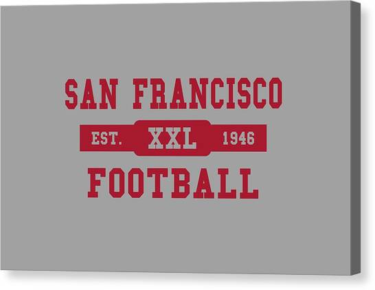 San Francisco 49ers Canvas Print - 49ers Retro Shirt by Joe Hamilton