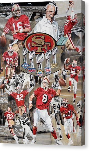 Jerry Rice Canvas Print - 49ers Tribute by Joshua Jacobs