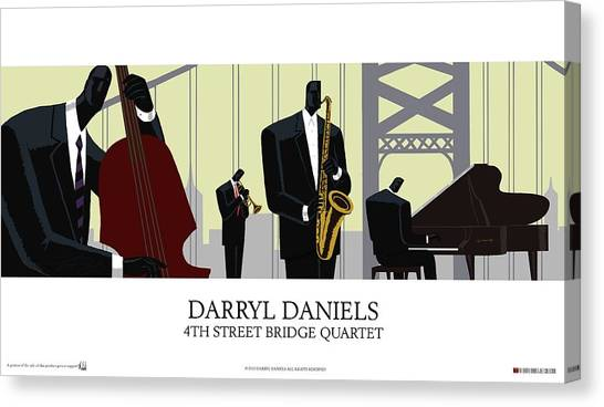 4th Street Bridge Quartet - Poster Style Canvas Print