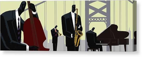 4th Street Bridge Quartet  Canvas Print