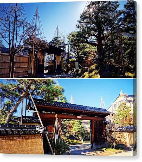 Samurai Canvas Print - 旧加賀藩士 高田家跡  #金沢 by MST Photography