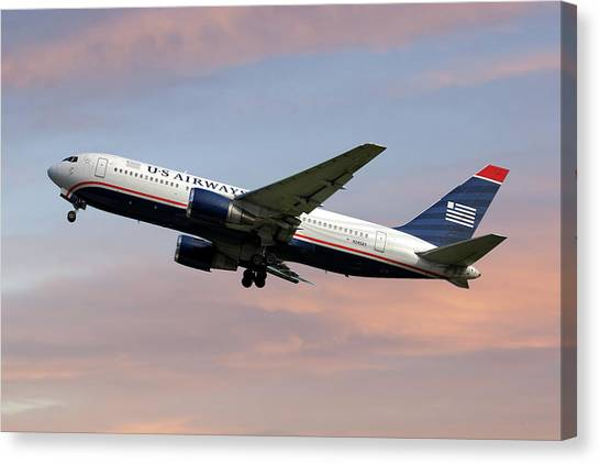 Airlines Canvas Print - American Airlines Boeing 767-200 by Smart Aviation