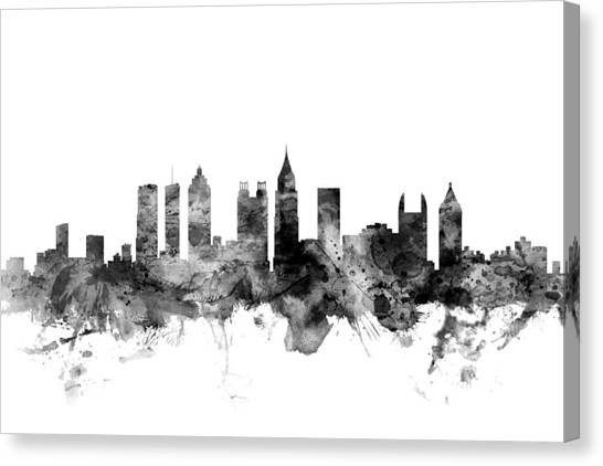Georgia Canvas Print - Atlanta Georgia Skyline by Michael Tompsett