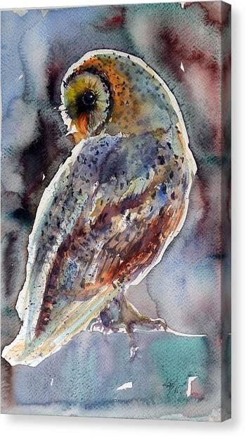 Owl Canvas Print - Barn Owl by Kovacs Anna Brigitta