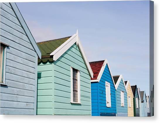 Beach Cabin Canvas Print - Beach Huts by Tom Gowanlock