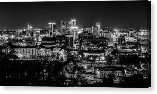 Birmingham Alabama Evening Skyline Canvas Print