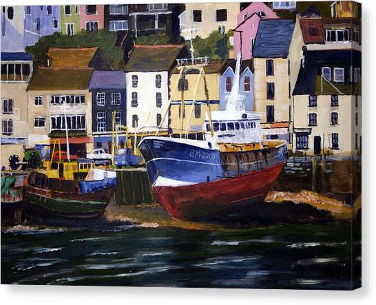 Brixham Harbour Canvas Print by Mike Lester
