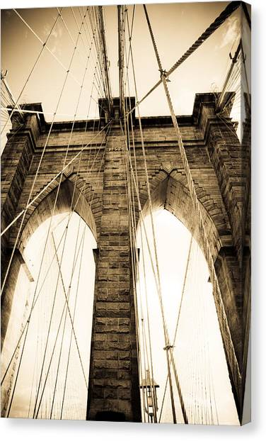 Brooklyn Bridge Canvas Print by Patrick  Flynn