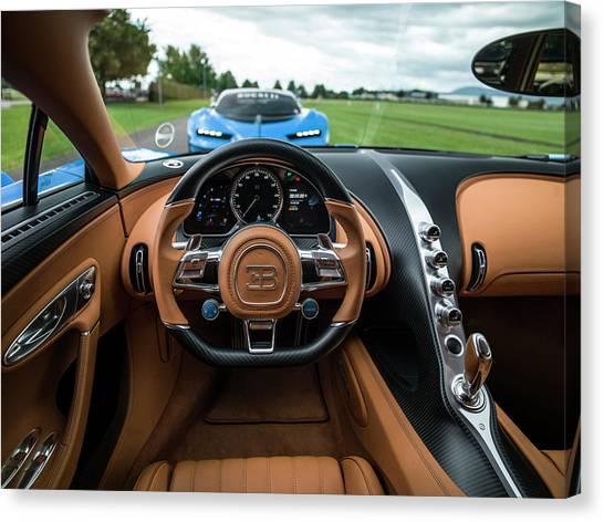 Bugatti Chiron And Vision Gt Canvas Print