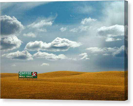 Interstates Canvas Print - 5 Cent Coffee by Todd Klassy