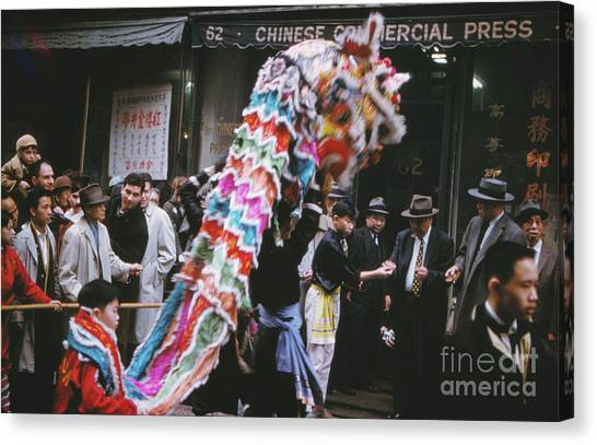 Chinese New Year Canvas Print - Chinese New Year 1963 by The Harrington Collection
