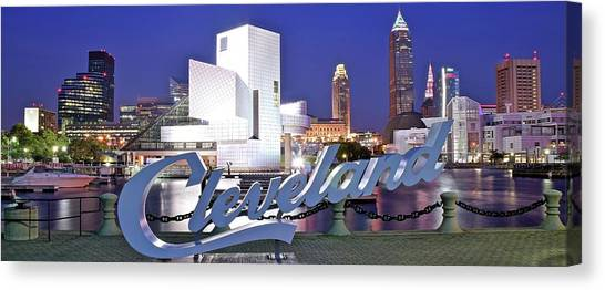 Cleveland Indians Canvas Print - Cleveland Ohio by Frozen in Time Fine Art Photography