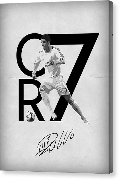 Real Madrid Canvas Print - Cristiano Ronaldo by Semih Yurdabak